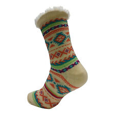 LADIES WARM THERMAL INSULATED THICK WINTER SOCKS 4.7 TOG UK 6-11 399E CREAM HEEL