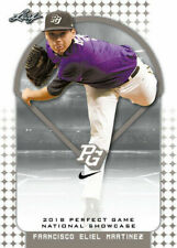 """FRANCISCO MARTINEZ 2018 LEAF PERFECT GAME """"Red"""" PARALLEL ROOKIE CARD! LTD 25!"""