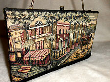 H 1 U.S.A. FABRIC PURSE/HANDBAG/CLUTCH, WITH SCENE ON FRONT & BACK, AMAZING!
