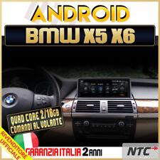 "AUTORADIO 10.25"" Android 4-Core BMW Serie E70 E71 X5 X6 2009-2017 Navigatore GPS"