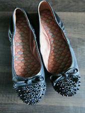 "New Sam Edelman ""Beatrix5322701"" Spiked Black Leather Ballet Flats Shoes 5M"