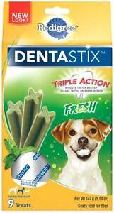 PEDIGREE DENTASTIX Fresh Small/Medium Dog Treats, 9 Count FRESH 01/2020 NEW