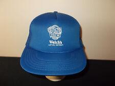 VTG-1980s Welch's Lawton Michigan fruit juices mesh trucker snapback hat sku22
