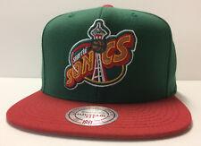 online retailer b8719 60b2d Seattle Supersonics Mitchell   Ness NBA Snapback Hat XL Logo 2tone Cap  Sonics
