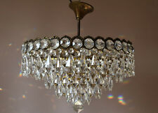 Antique French Vintage Crystal Chandelier Old Lamp Lighting Pendant Wall Lights