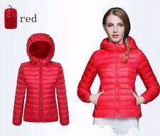 Winter womens Down Jacket Padded Coat Ladies Slim Hooded Parka Overcoat Outwear
