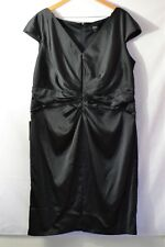 NWOT Tadashi Collection Too Black Ruched Evening Cocktail Dress Size 22Q