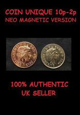 COIN UNIQUE 10p 2p CLOSE UP MAGIC TRICK [VANISHING COIN MAGIC] MAGNETIC VERSION