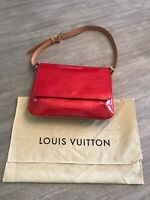 Auth LOUIS VUITTON Vernis Thompson Street Shoulder Bag Red Patent Leather M91094