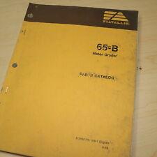 FIAT ALLIS 65-B Motor Grader Parts Manual Book catalog spare list road 73114341