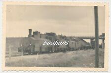 Foto  russischer Beute Panzerzug-Eisenbahn-Dampflok  2.WK (d582)