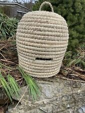 Lg Bee Skep Skeep Straw Basket Hand Made Woven Wicker Basket Bee Hive Primitive