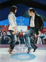 """Painting of Vincent and Mia dance from the movie """"Pulp fiction"""""""