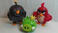 Angry Birds King Bad Piggy McDonalds Bomb Bird & Red 2016 Set of 3
