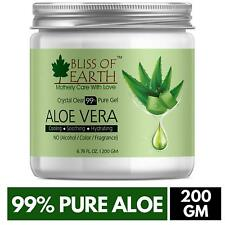 Bliss of Earth 99% Pure Crystal Clear Aloe Vera Gel, 200 Gms