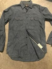 Double RL RRL Selvedge Cotton Flax Work Shirt XS Extra Small