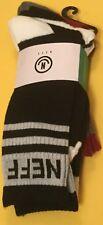 3 pairs NEFF Crew Street Socks Men size 6.5-12 NEW WORLD skate BMX snowboard