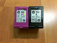(2) x Empty HP 122 Black Tri Color Ink Cartridges Used Virgin Never Refilled