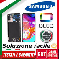 DISPLAY LCD+TOUCH SCREEN+FRAME OLED X SAMSUNG GALAXY A70 SM-A705F VETRO SCHERMO!