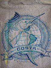 Men's NWT~M~World Sail T-Shirt, Gray by Costa Del Mar (Fishing/Cotton Blend)