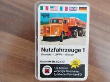 Quartett Nutzfahrzeuge 1 von 1970 von F.X.Schmid   aus Sammlung (Brummis, Busse,