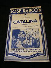 Partitur catalina José Rançon Orchester der Die Carrol