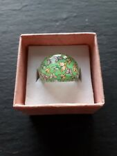 New childs green butterfly ring UK size H.5! Childrens kids jewellery!