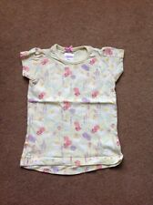 Girls lemon t-shirt with all over flower pattern, 4 years