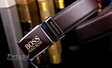 Hugo Boss Leather Belt 120 cm Brown Automatic Buckle New, WITH TAGS ,