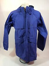 Unisex HH Helly Hansen Blue Rain Coat Water Resistant Jacket Size Mediun Vented