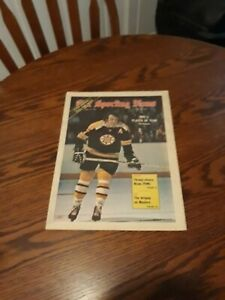 APRIL 21,1973-THE SPORTING NEWS-PHIL ESPOSITO OF THE BOSTON BRUINS(MINT)