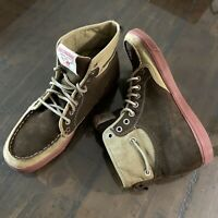 RARE True Religion Camby Suede Boots Moccasins Brown Hi-Top Sneakers Chukka 7