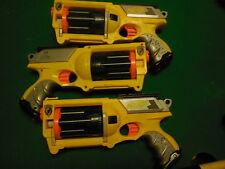 NERF N STRIKE ELITE SOFT DART SET OF 3 MAVERICK  REV-6 PISTOL GUNS HASBRO * 2004