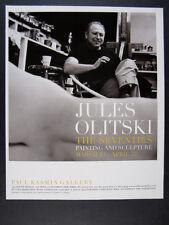 2006 Jules Olitski The Seventies Painting & Sculpture exhibition vintage Ad