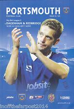 2014/15 PORTSMOUTH V DAGENHAM & REDBRIDGE 16-09-2014 League 2 (Mint)