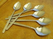 Vintage Cutlery Viners Country Garden Dessert Spoons 60s/70s Retro Set 6