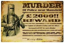 NED KELLY 'REWARD ' Poster  RUSTIC  TIN SIGN