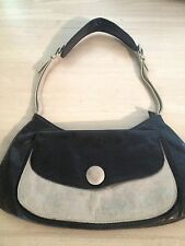 Sabina New York Women's Handbag Black And Bone Leather Handbag