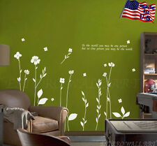 """""""Long Stem Flowers"""" Removable Wall Sticker Vinyl Decal, Home Decor"""