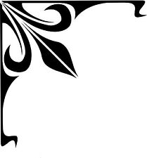GRAPHIC SCROLL PINSTRIPING DECAL CORNER SCROLL