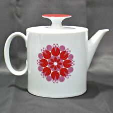 Thomas Rosenthal Germany Pin Wheel teapot mid century mod red