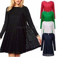 Mini Hippie Kleid Damen schwarz grün Spitzenkleid 70er Abendkleid