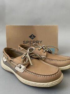 Sperry Women's Size 8 M Bluefish Two Eye Boat Shoe Linen/Oat 9276619