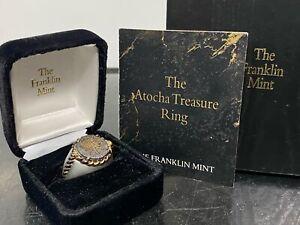 Franklin Mint Atocha Shipwreck Treasure Ring Sterling Silver 925