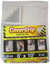 CoverGrip 081008 8 oz Canvas Safety Drop Cloth, 8' x 10'