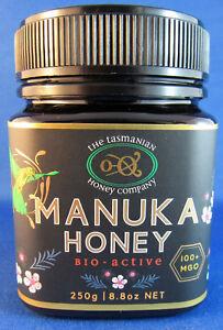 Manuka Honey, MGO 100+, Tasmanian, Bio-active,  250gms, free shipping