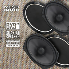CT Sounds Meso 6x9 Inch 120W Car Audio Coaxial Doors Power Coax Speakers (Pair)