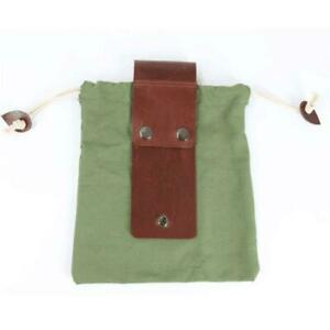 Leather Waxed Canvas Pouch Garden Tools Bag Tote Garden Tools Bag New US