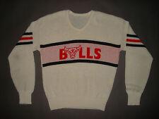 Vintage 1980s CHICAGO BULLS V NECK SWEATER Michael Jordan Cliff Engle T SHIRT L