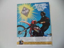 advertising Pubblicità 1986 TACTEL e KEKE ROSBERG e HONDA XL 200 R PARIS DAKAR